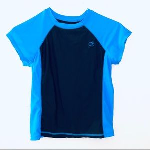 OP Rash Guard Blue Black tshirt L 10-12 rashguard